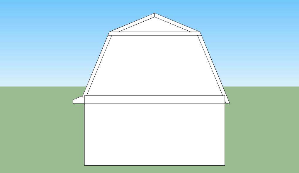 Gambrel barrel roof trusses for Barrel roof trusses
